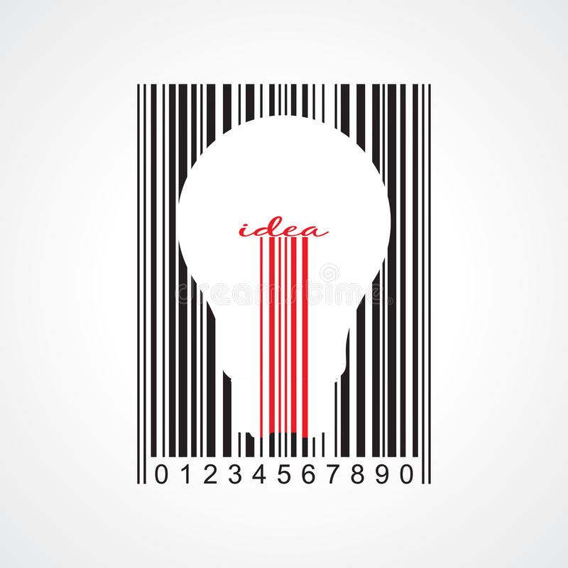 Bulb and bar code vector illustration