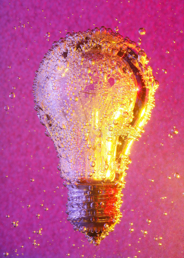 Download Bulb and bubbles stock photo. Image of details, metallic - 6260804