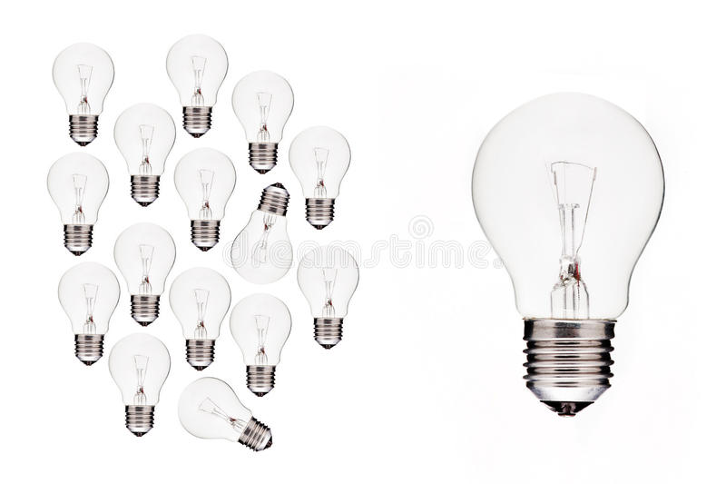 Download Bulb - Business Ideas Become Big Stock Photo - Image of design, background: 20648628