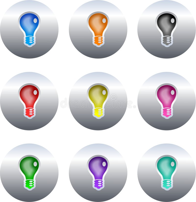Bulb buttons royalty free illustration