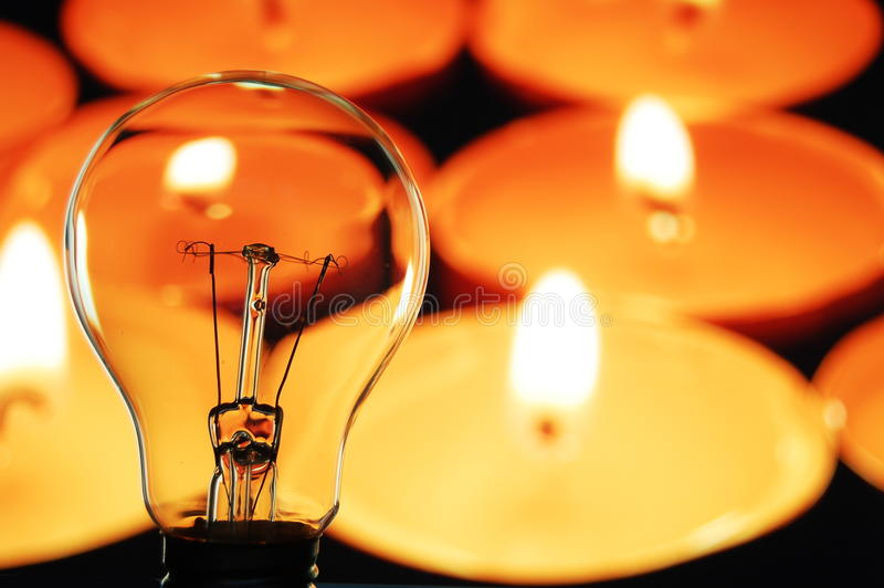 Download Bulb and candle stock photo. Image of illuminate, electricity - 11447892