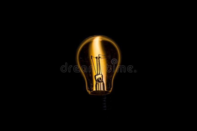 Bulb and candle fusion concept stock photo