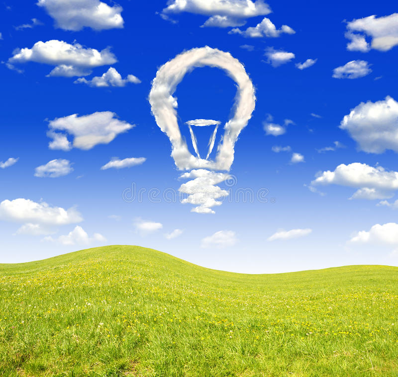 Download Bulb from clouds stock image. Image of landscape, bush - 24781335