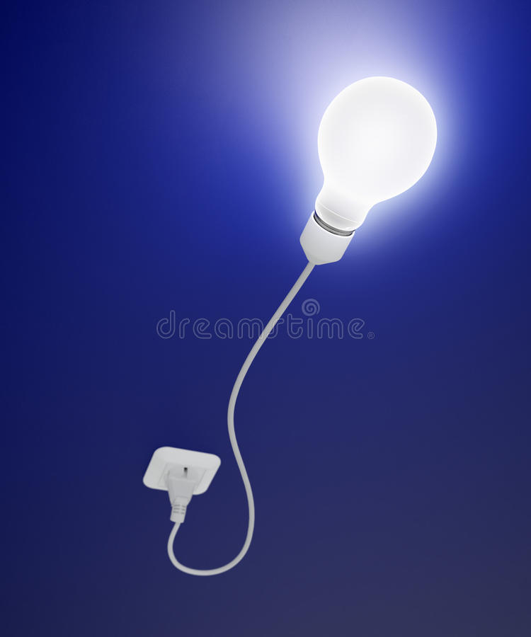 Bulb With A Cord Stock Images