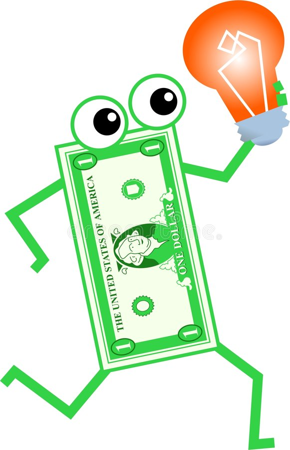 Bulb dollar royalty free illustration
