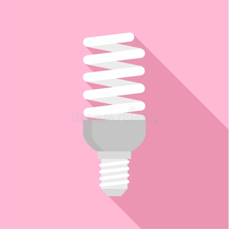 Bulb energy saving icon, flat style vector illustration