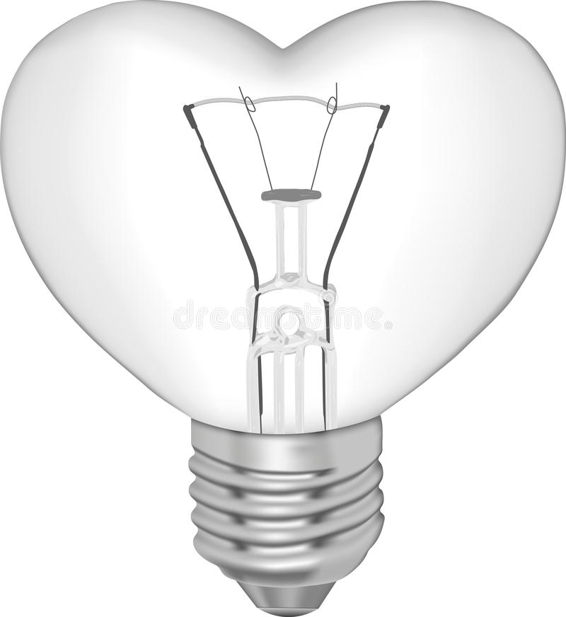 Download Bulb In The Form Of Heart Stock Images - Image: 24435024