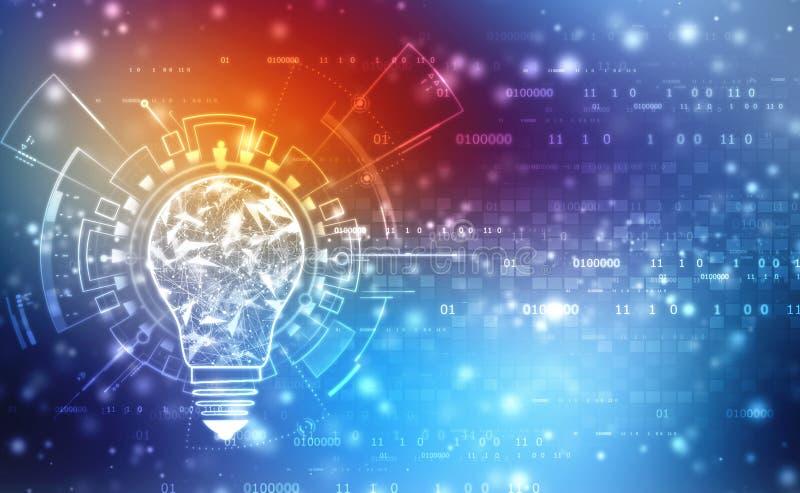 Bulb future technology, innovation background, creative idea concept vector illustration