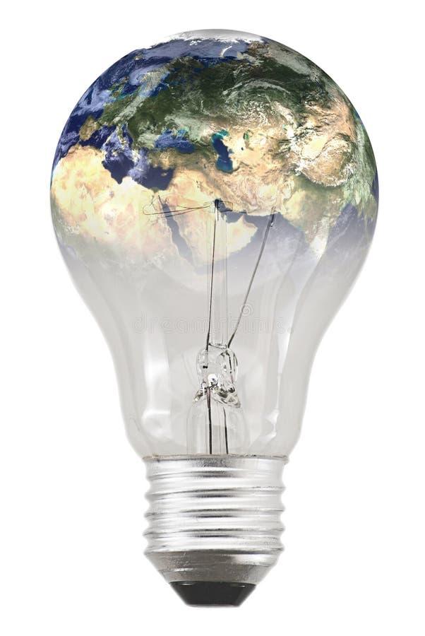 Bulb and global energy royalty free stock image