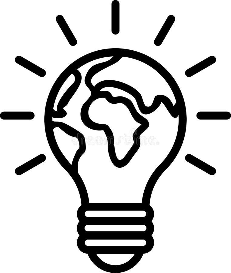 Bulb globe icon. Vector illustration of bulb globe icon on isolated white background royalty free illustration