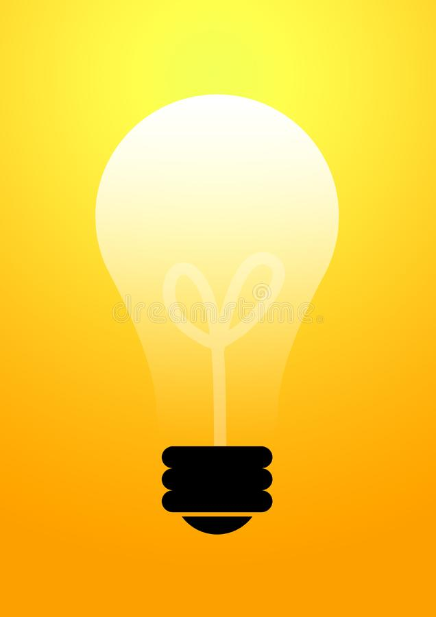 Bulb glowing background royalty free stock photography