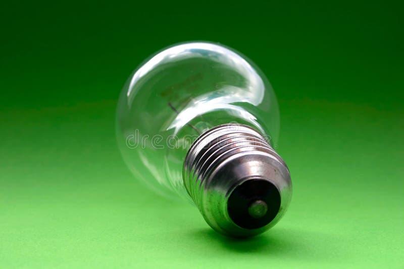 Bulb on green.  stock image