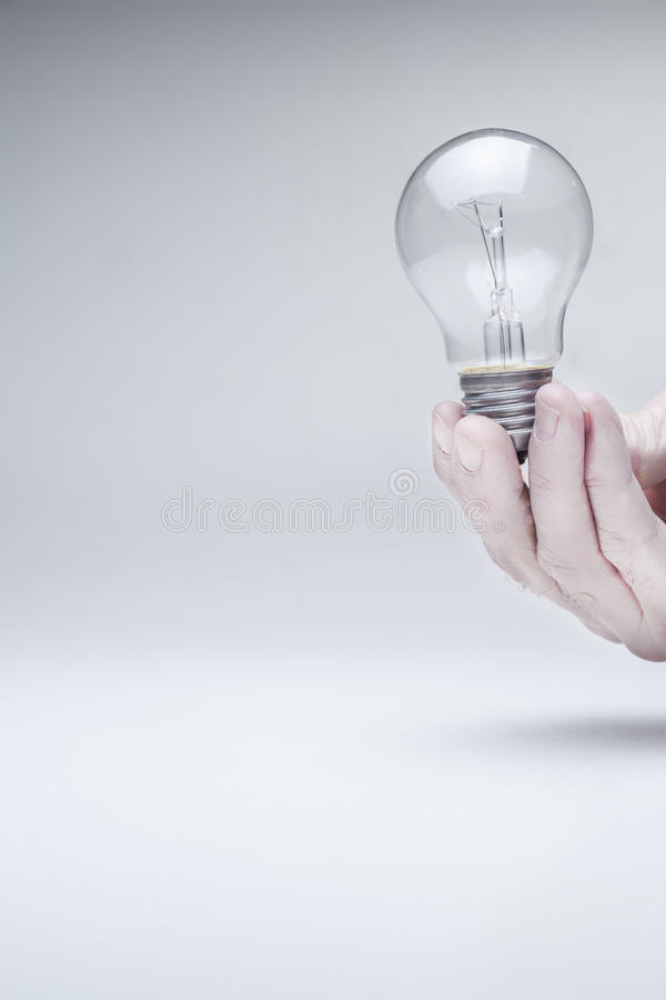 Download Bulb Hold With Hand Stock Image - Image: 28498881