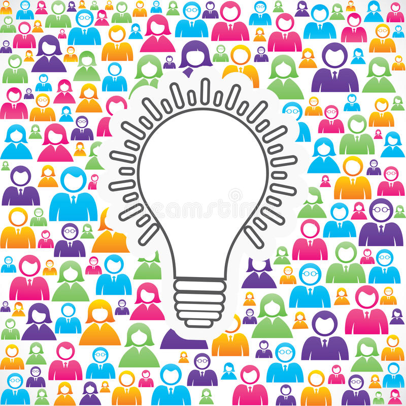 Download Bulb Icon With In Group Of People Stock Vector - Image: 31349411