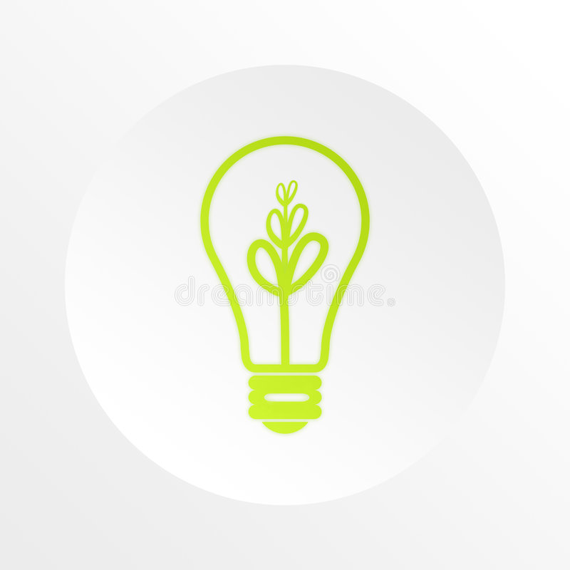 Bulb, idea, business, information royalty free illustration