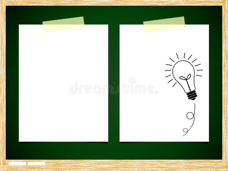 Download ฺBulb idea note paper stock illustration. Image of attachment - 21979049