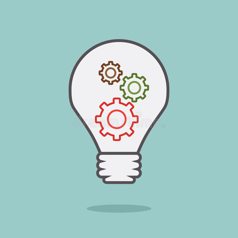 Free Bulb Idea With 3 Gears Royalty Free Stock Image - 32329796