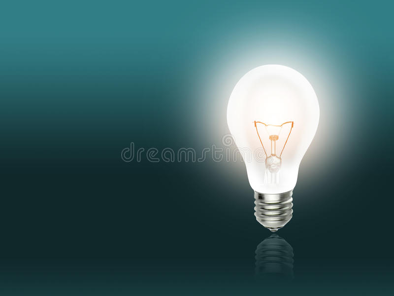 Bulb lamp light idea background turquoise. Bulb lamp light idea background bright turquoise stock images