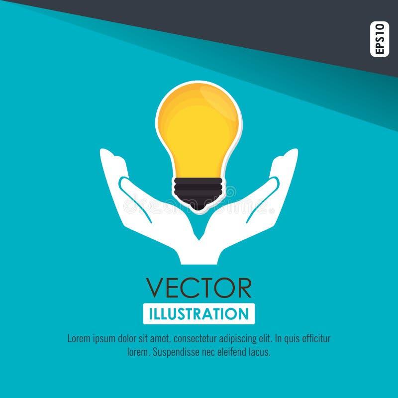 Bulb light design. Illustration eps10 graphic stock illustration