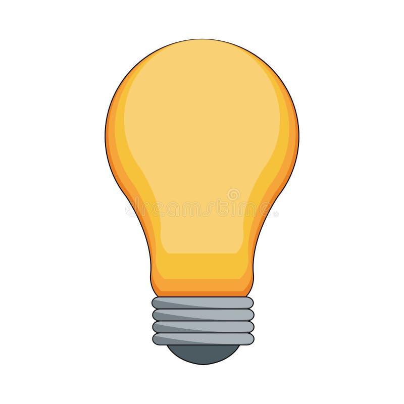 Bulb light icon. Over white background. colorful design. vector illustration royalty free illustration