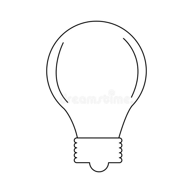 Bulb light icon. Over white background. vector illustration royalty free illustration