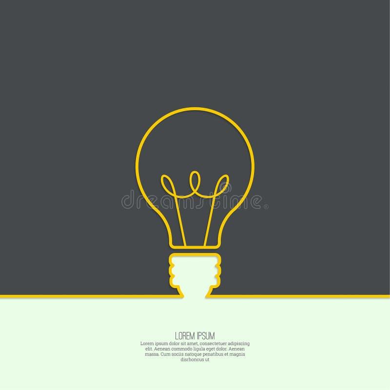 Bulb light idea. Concept of big ideas inspiration innovation, invention, effective thinking. text vector illustration