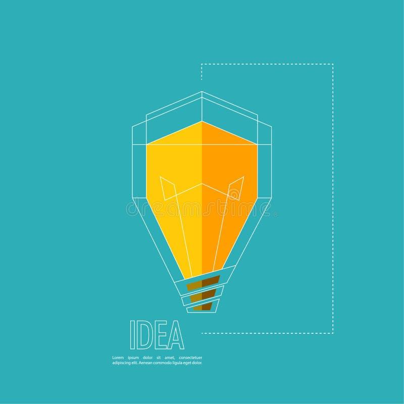 Bulb light idea. Flat design. concept of ideas inspiration innovation, invention, effective thinking royalty free illustration