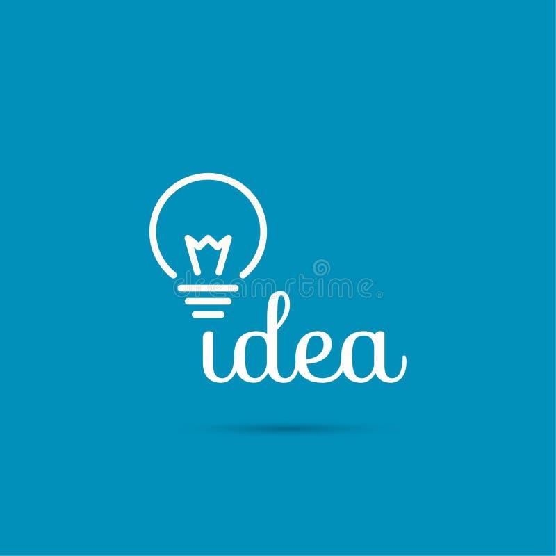 Bulb light idea. Flat design. concept of ideas inspiration innovation, invention, effective thinking stock illustration