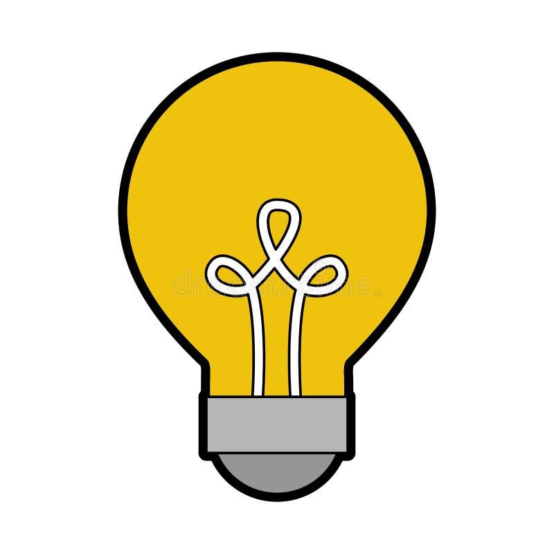 Bulb light isolated icon. Vector illustration design royalty free illustration