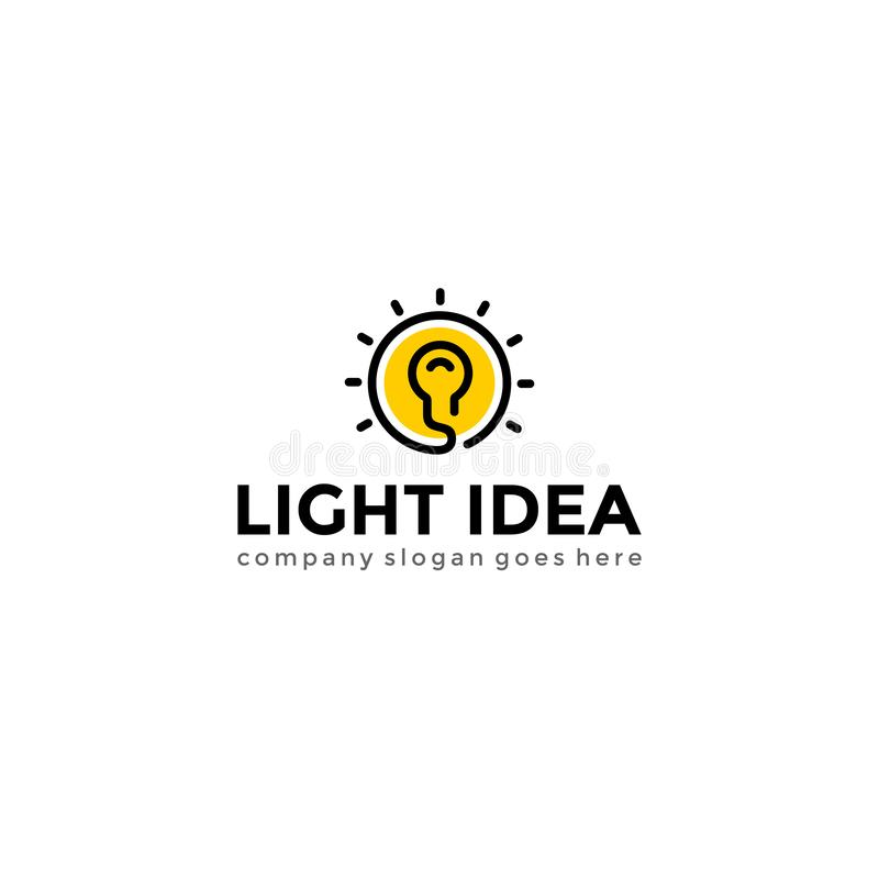 Bulb light logo. Creative idea logotype vector template. Bulb light logo. Creative idea logotype vector template stock illustration