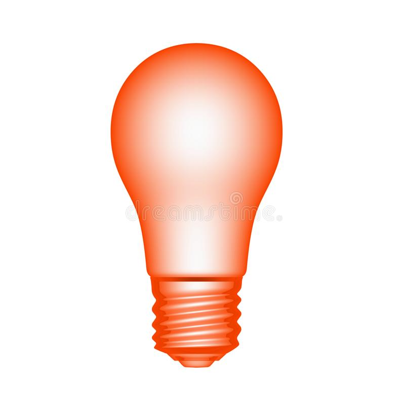 Bulb light red stock image