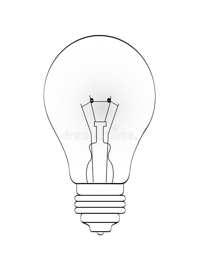 Bulb Lineart Royalty Free Stock Photos
