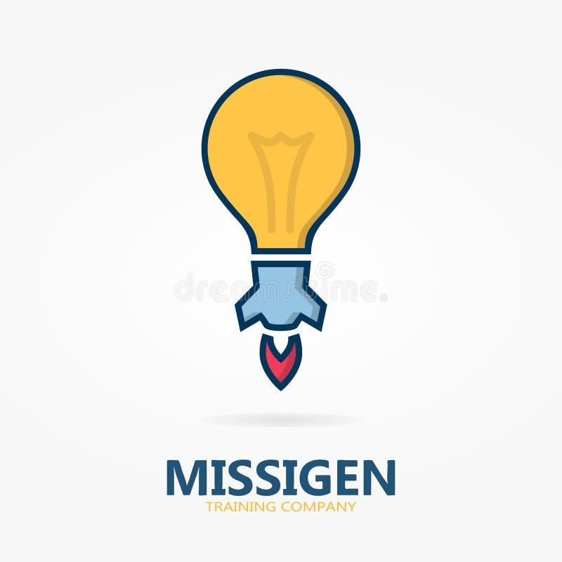 Bulb logo with idea concept stock illustration