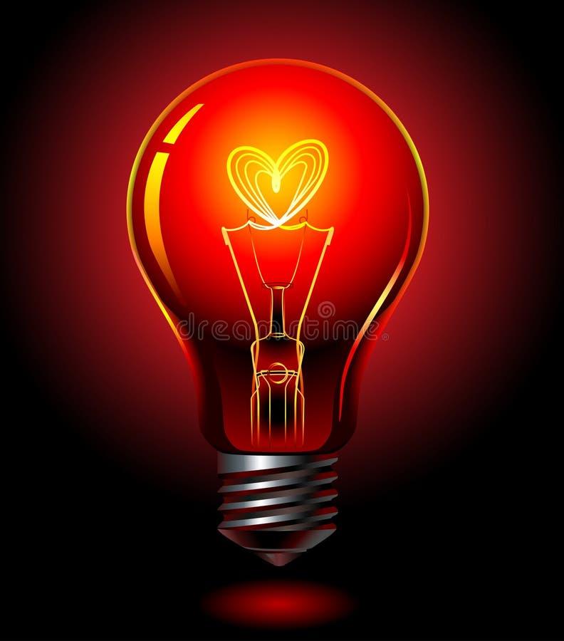 Download Bulb-love stock vector. Image of burn, illuminate, genius - 9952318