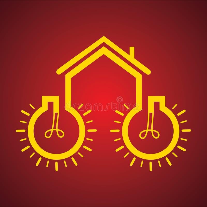Bulb make a home stock illustration