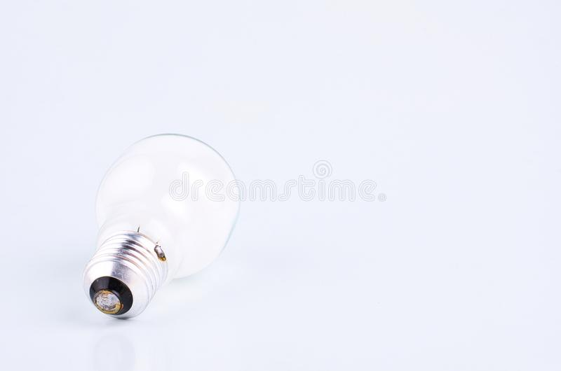 Bulb over white background for creative ideas concept stock photos