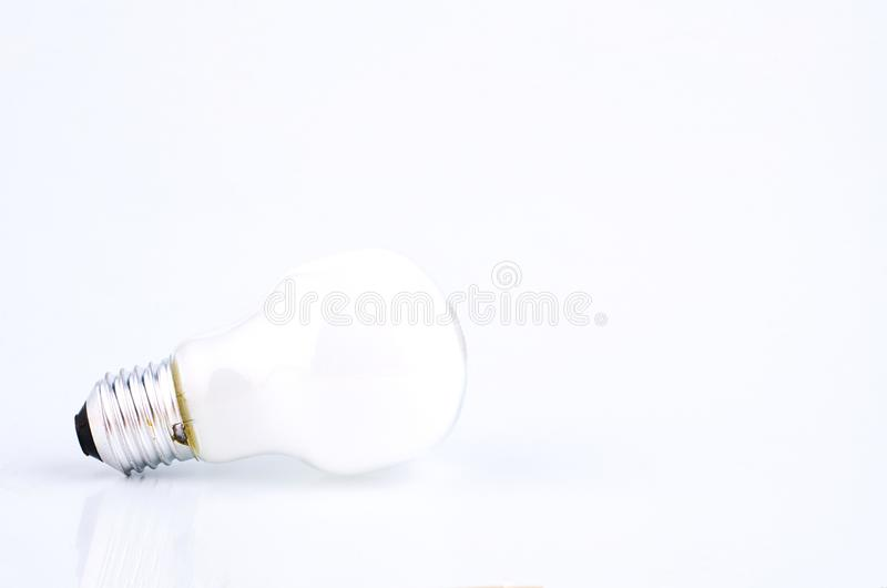 Bulb over white background for creative ideas concept stock images