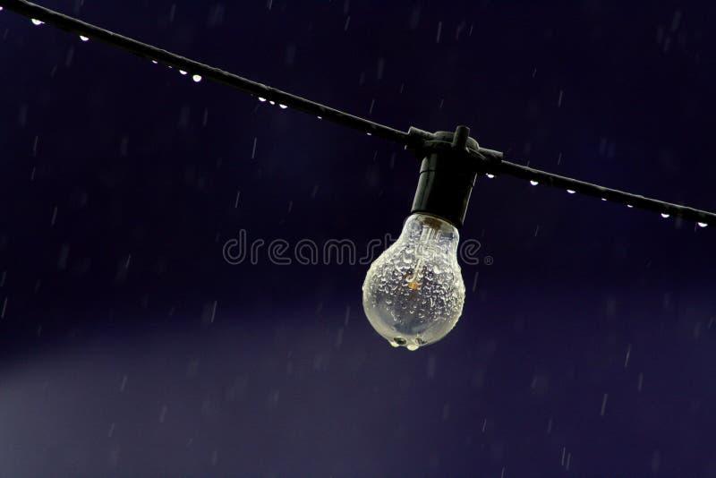 Bulb In The Rain Free Public Domain Cc0 Image