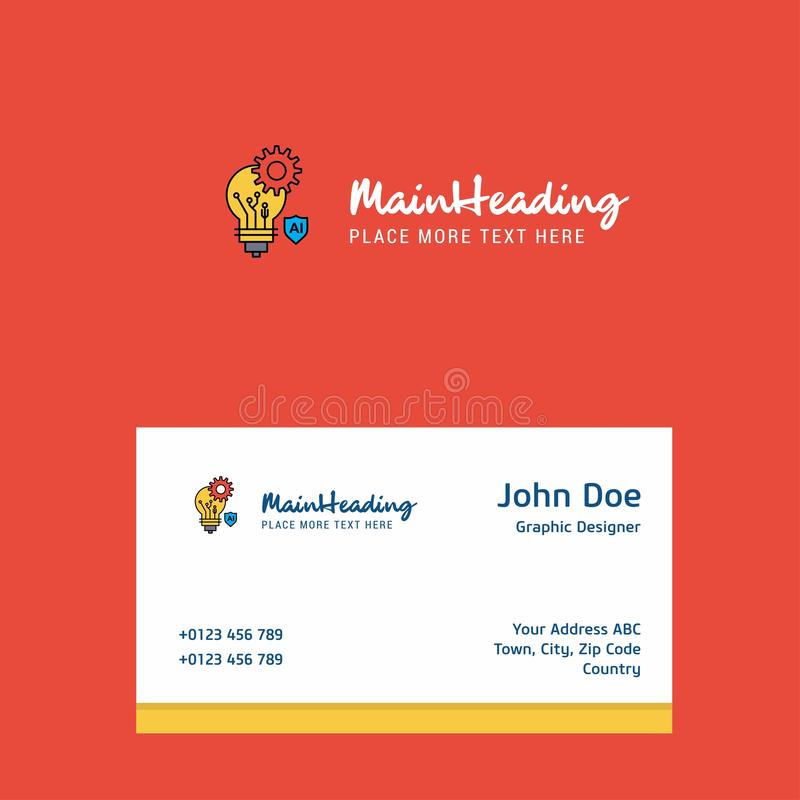 Bulb setting logo Design with business card template. Elegant corporate identity. - Vector vector illustration