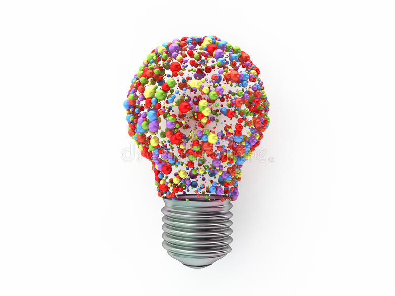 Download Bulb Shape  Made From Colored Spheres Stock Illustration - Image: 24822277