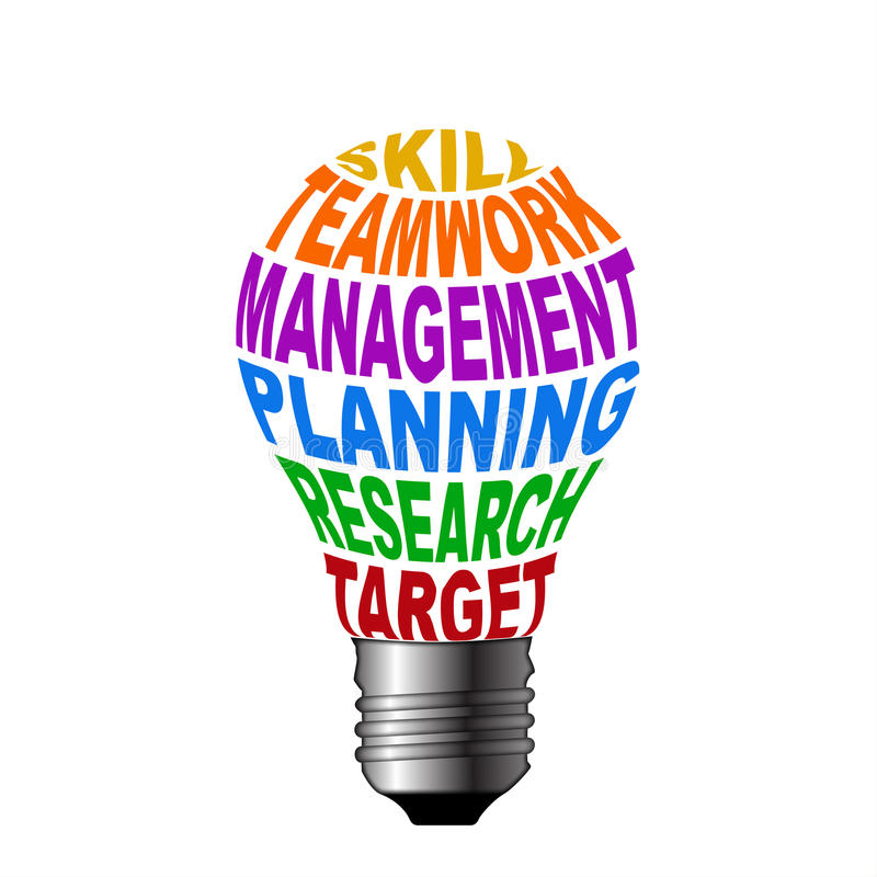 Download Bulb Of Skill Teamwork Management Planning Research Target Stock Illustration - Image: 33950659
