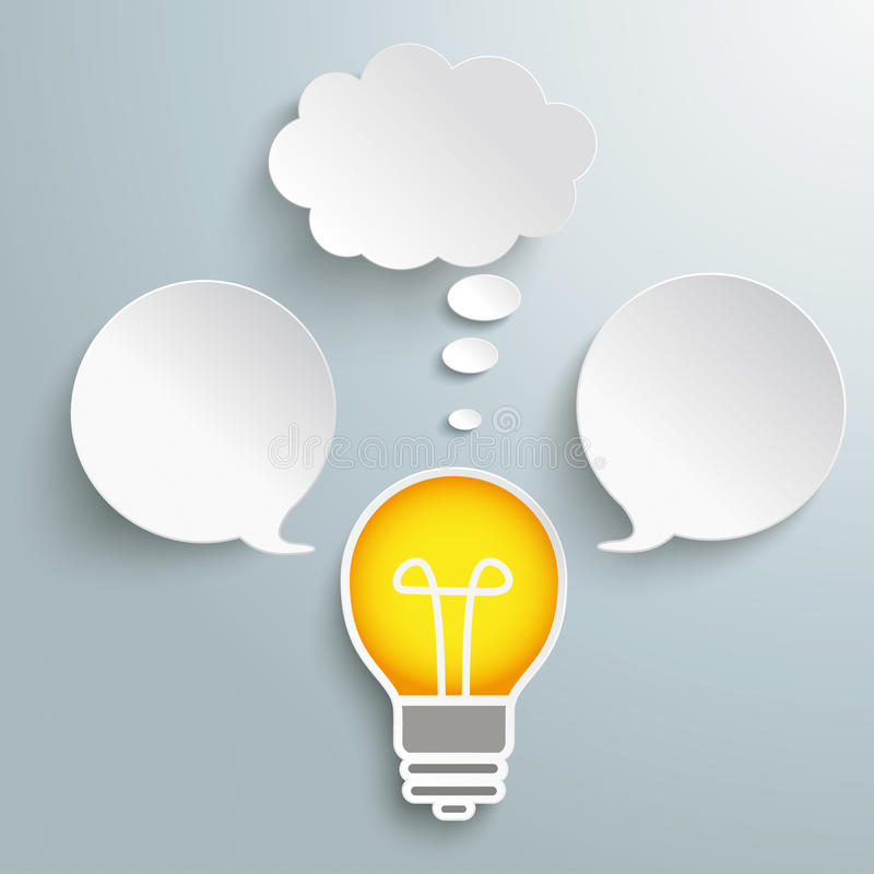 Bulb Speech Thought Bubbles vector illustration