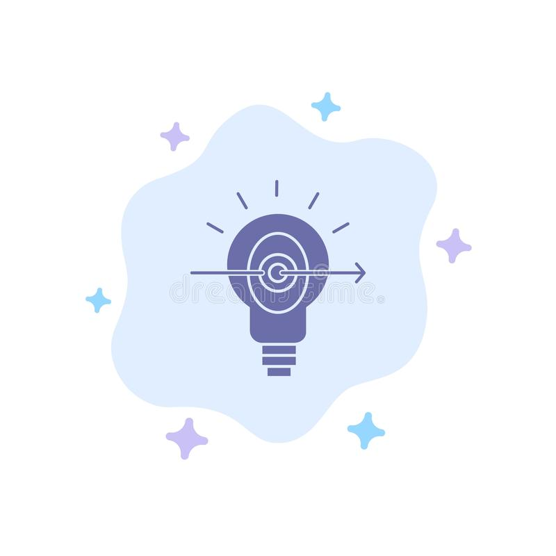 Bulb, Success, Focus, Business Blue Icon on Abstract Cloud Background vector illustration