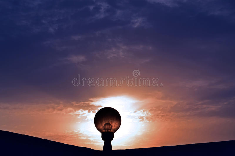 The bulb at sunset royalty free stock image