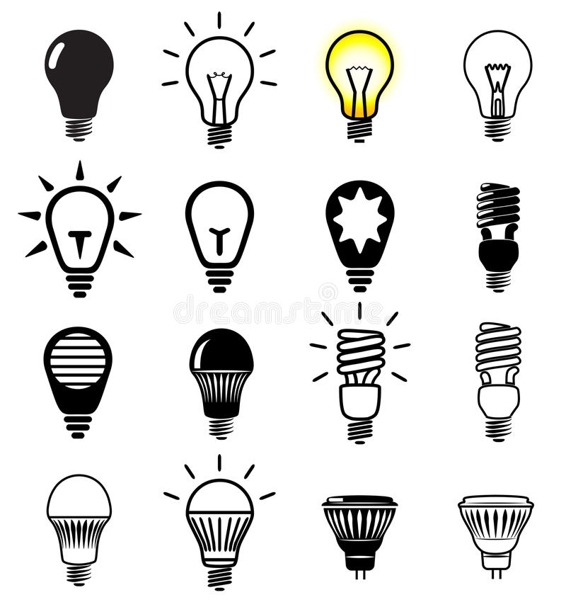 Bulb Symbols Stock Vector Illustration Of Alternative 39001126