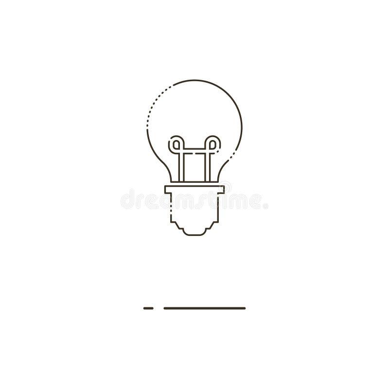 Bulb thin line icon. Mbe minimalism style. Minimal modern thin line Bulb icon on white background. Linear symbols stock illustration