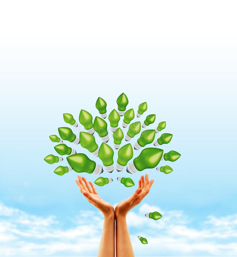 Download Bulb Tree Concept stock illustration. Image of leaf, clouds - 14960455
