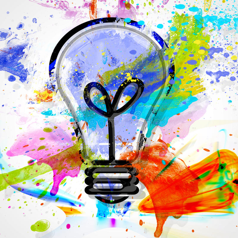 Bulb watercolor royalty free illustration