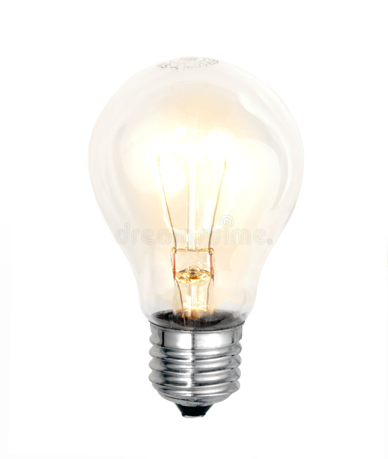 Bulb on white background royalty free stock photos
