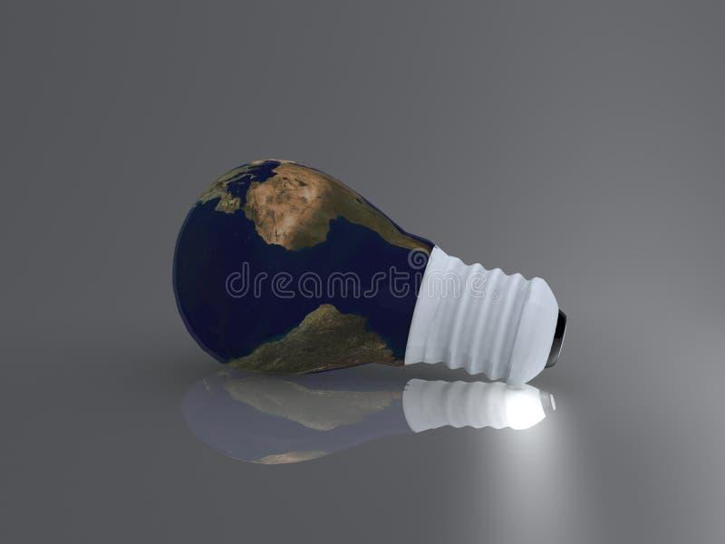 Bulb world stock image